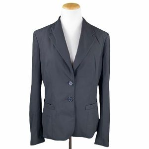 The Limited Black Satin Lined Long Sleeve Blazer